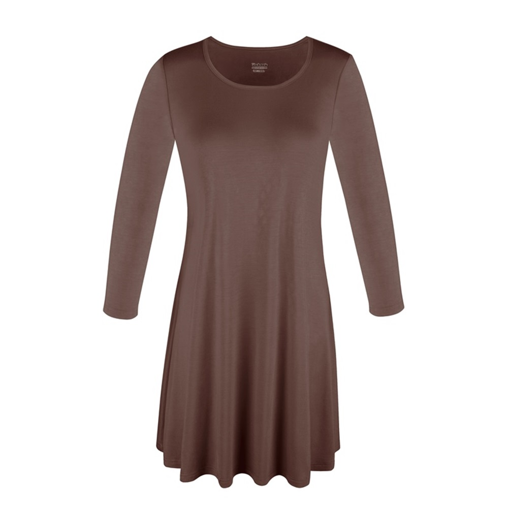 Women-039-s-Long-Tunic-Top-3-4-Sleeve-Dolman-Boat-Neck-USA-Dress-S-M-L-1X-2X-3X-PLUS thumbnail 19