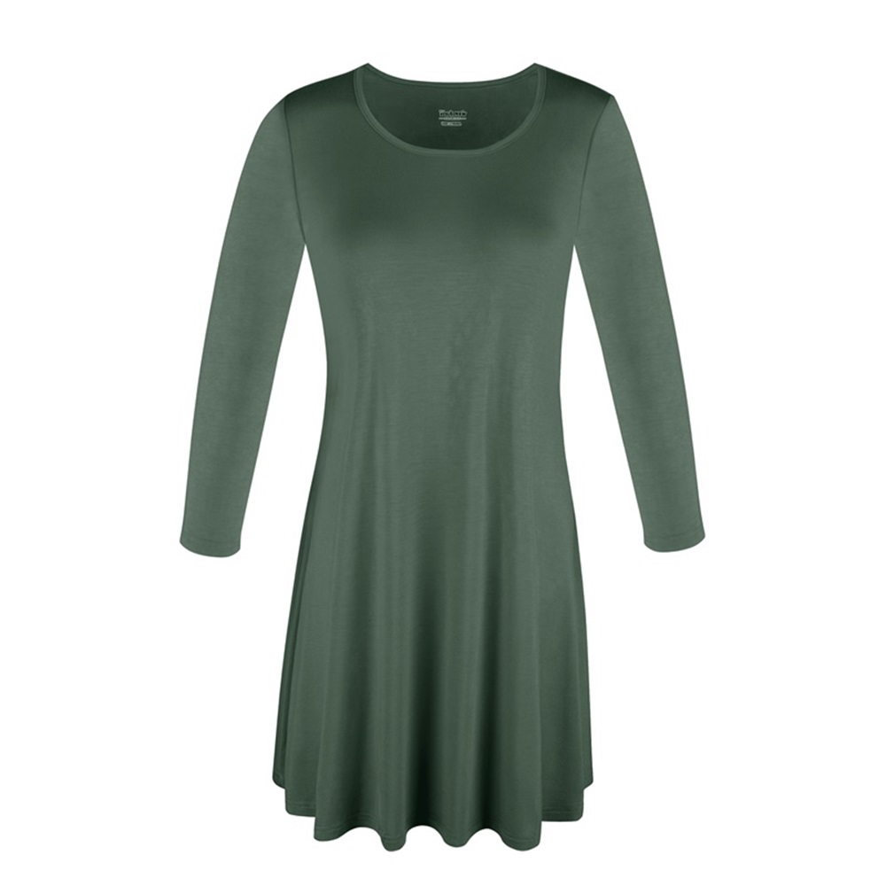 Women-039-s-Long-Tunic-Top-3-4-Sleeve-Dolman-Boat-Neck-USA-Dress-S-M-L-1X-2X-3X-PLUS thumbnail 6