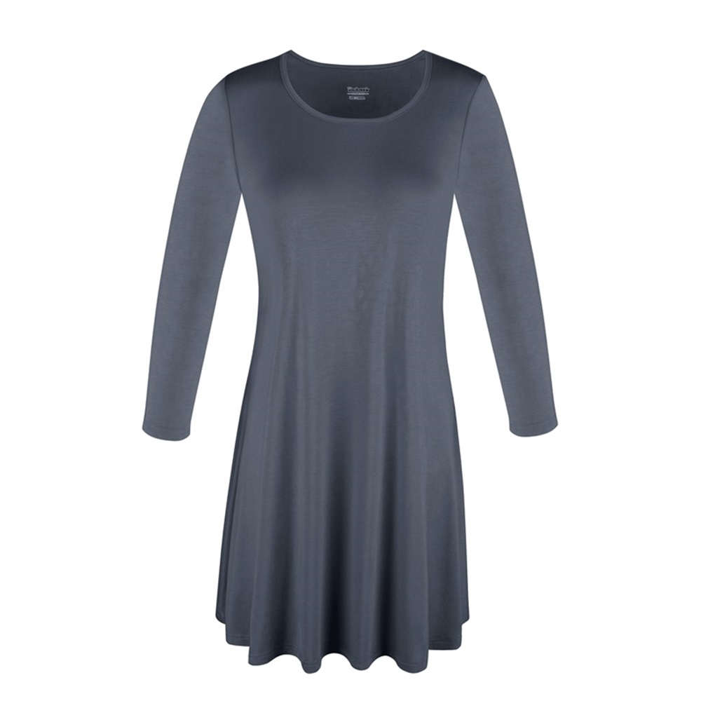 Women-039-s-Long-Tunic-Top-3-4-Sleeve-Dolman-Boat-Neck-USA-Dress-S-M-L-1X-2X-3X-PLUS thumbnail 27