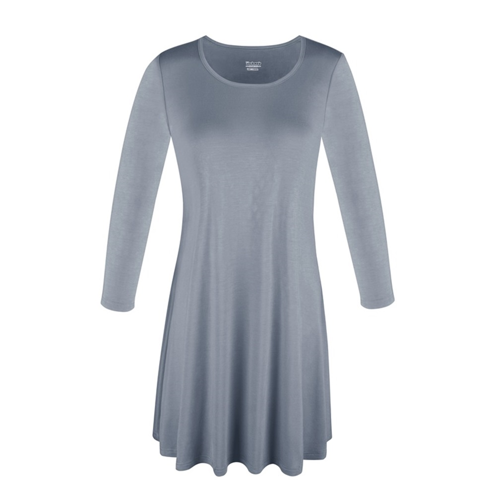 Women-039-s-Long-Tunic-Top-3-4-Sleeve-Dolman-Boat-Neck-USA-Dress-S-M-L-1X-2X-3X-PLUS thumbnail 35