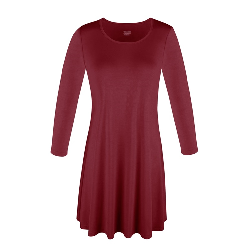 Women-039-s-Long-Tunic-Top-3-4-Sleeve-Dolman-Boat-Neck-USA-Dress-S-M-L-1X-2X-3X-PLUS thumbnail 23