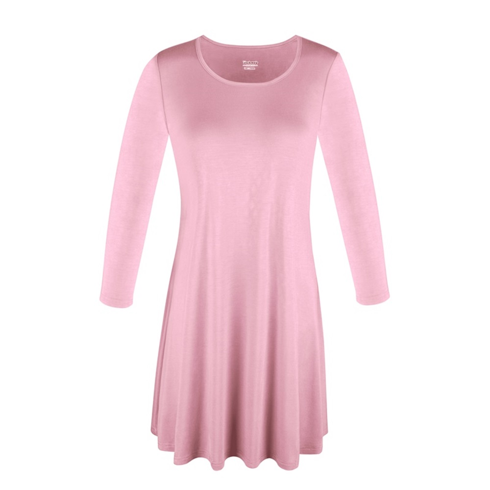 Women-039-s-Long-Tunic-Top-3-4-Sleeve-Dolman-Boat-Neck-USA-Dress-S-M-L-1X-2X-3X-PLUS thumbnail 39