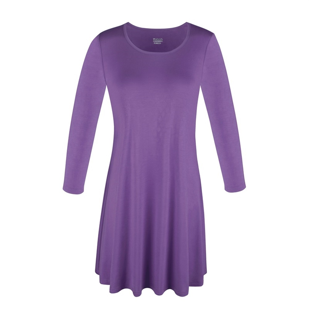 Women-039-s-Long-Tunic-Top-3-4-Sleeve-Dolman-Boat-Neck-USA-Dress-S-M-L-1X-2X-3X-PLUS thumbnail 43