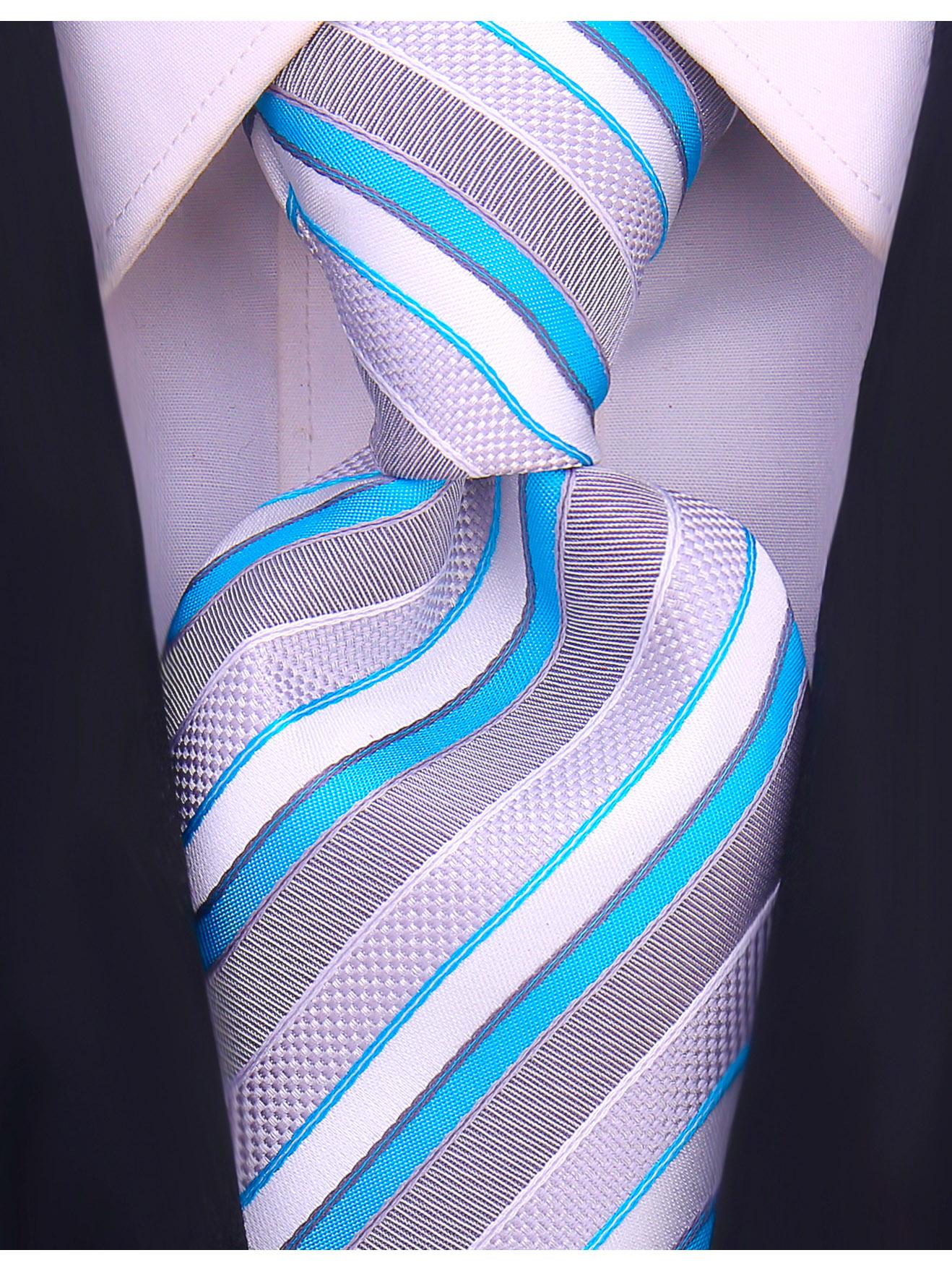 Scott-Allan-Striped-Necktie-Mens-Ties-in-Various-Colors thumbnail 33