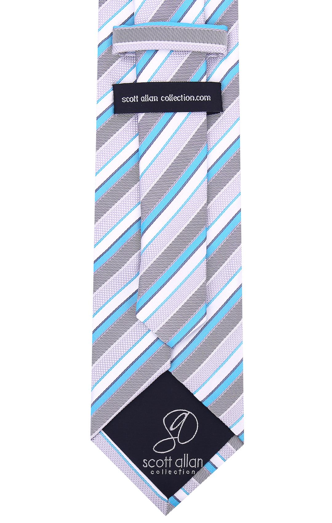 Scott-Allan-Striped-Necktie-Mens-Ties-in-Various-Colors thumbnail 37