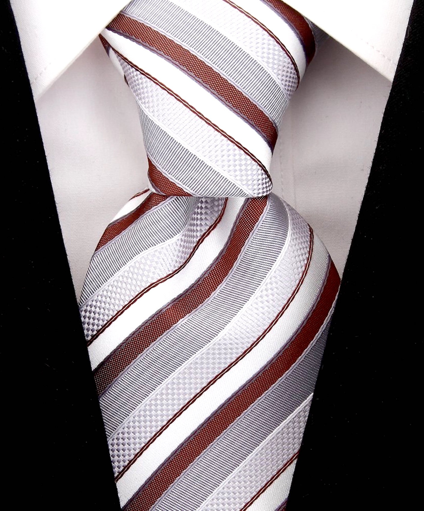 Scott-Allan-Striped-Necktie-Mens-Ties-in-Various-Colors thumbnail 7