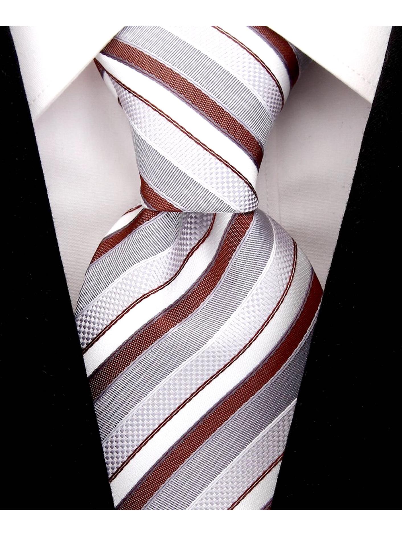 Scott-Allan-Striped-Necktie-Mens-Ties-in-Various-Colors thumbnail 6