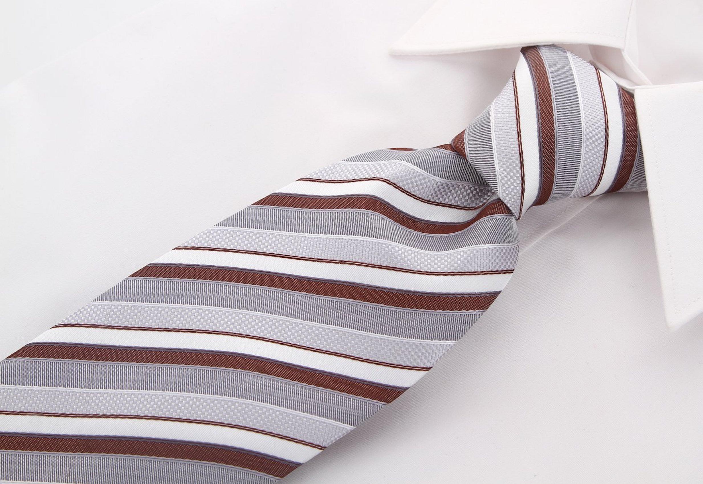 Scott-Allan-Striped-Necktie-Mens-Ties-in-Various-Colors thumbnail 8
