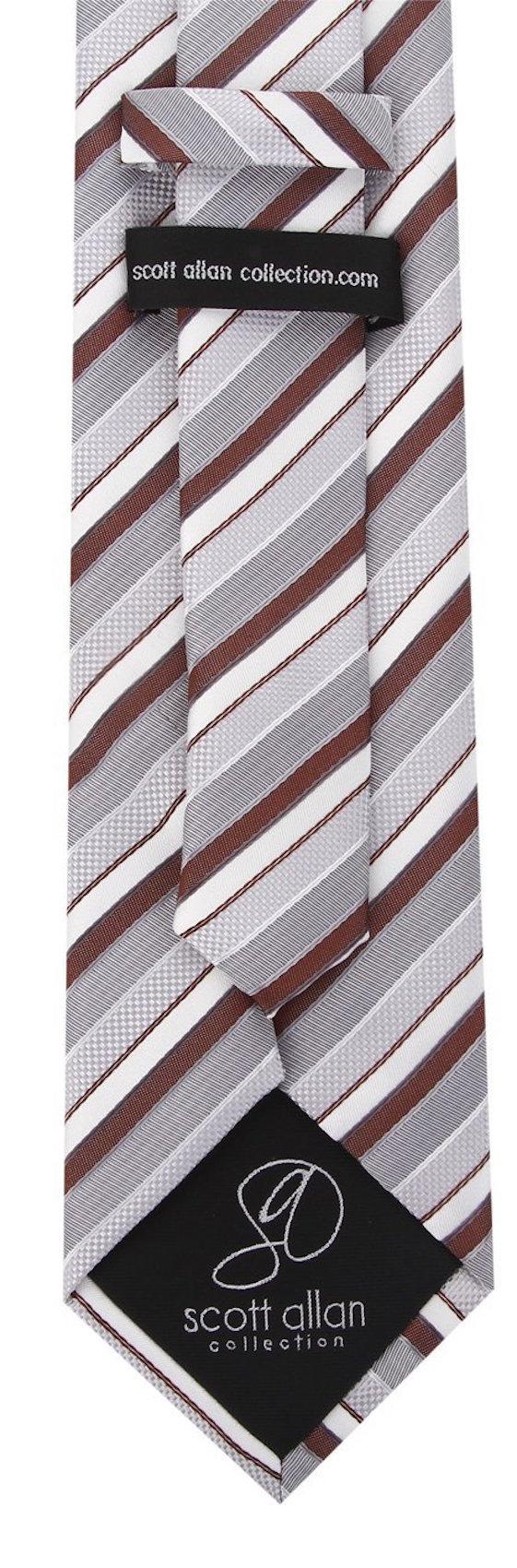 Scott-Allan-Striped-Necktie-Mens-Ties-in-Various-Colors thumbnail 10