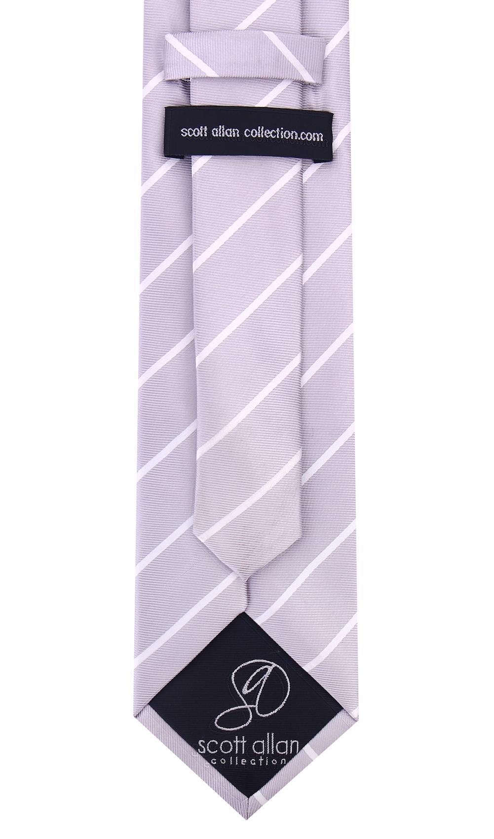 Scott-Allan-Mens-Necktie-Pencil-Striped-Mens-Tie thumbnail 25