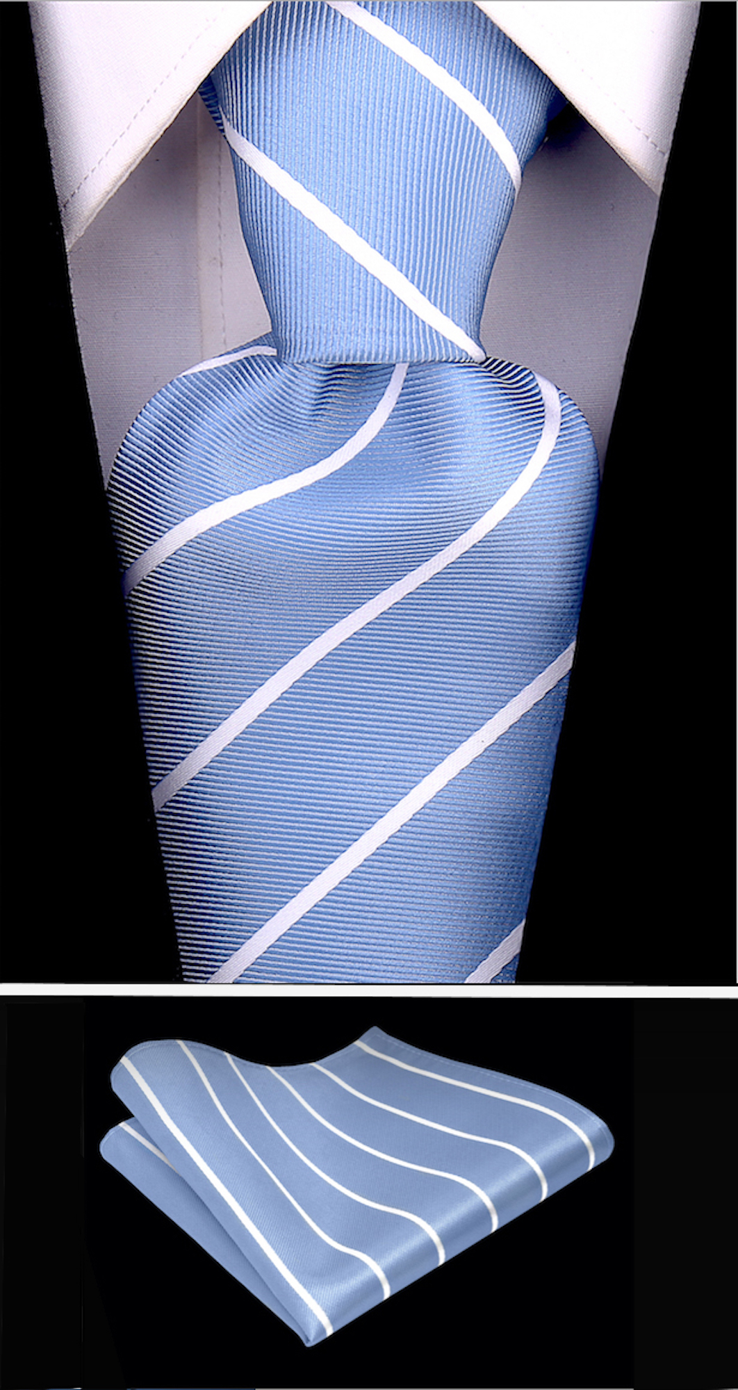 Scott-Allan-Mens-Necktie-Pencil-Striped-Mens-Tie thumbnail 42