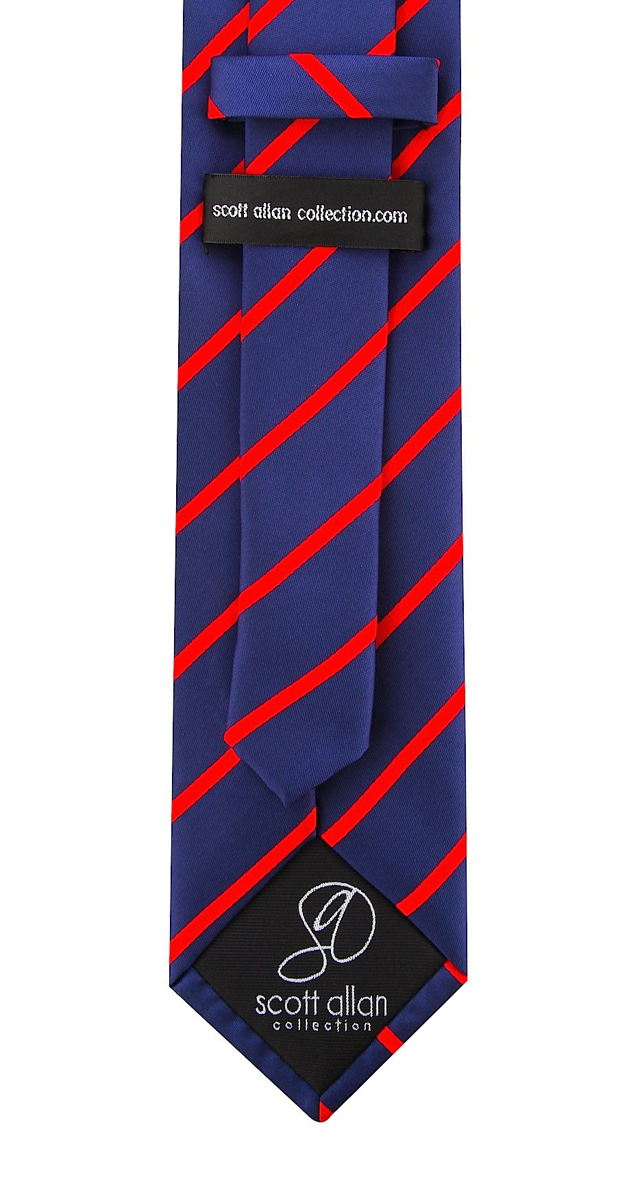 Scott-Allan-Mens-Necktie-Pencil-Striped-Mens-Tie thumbnail 33
