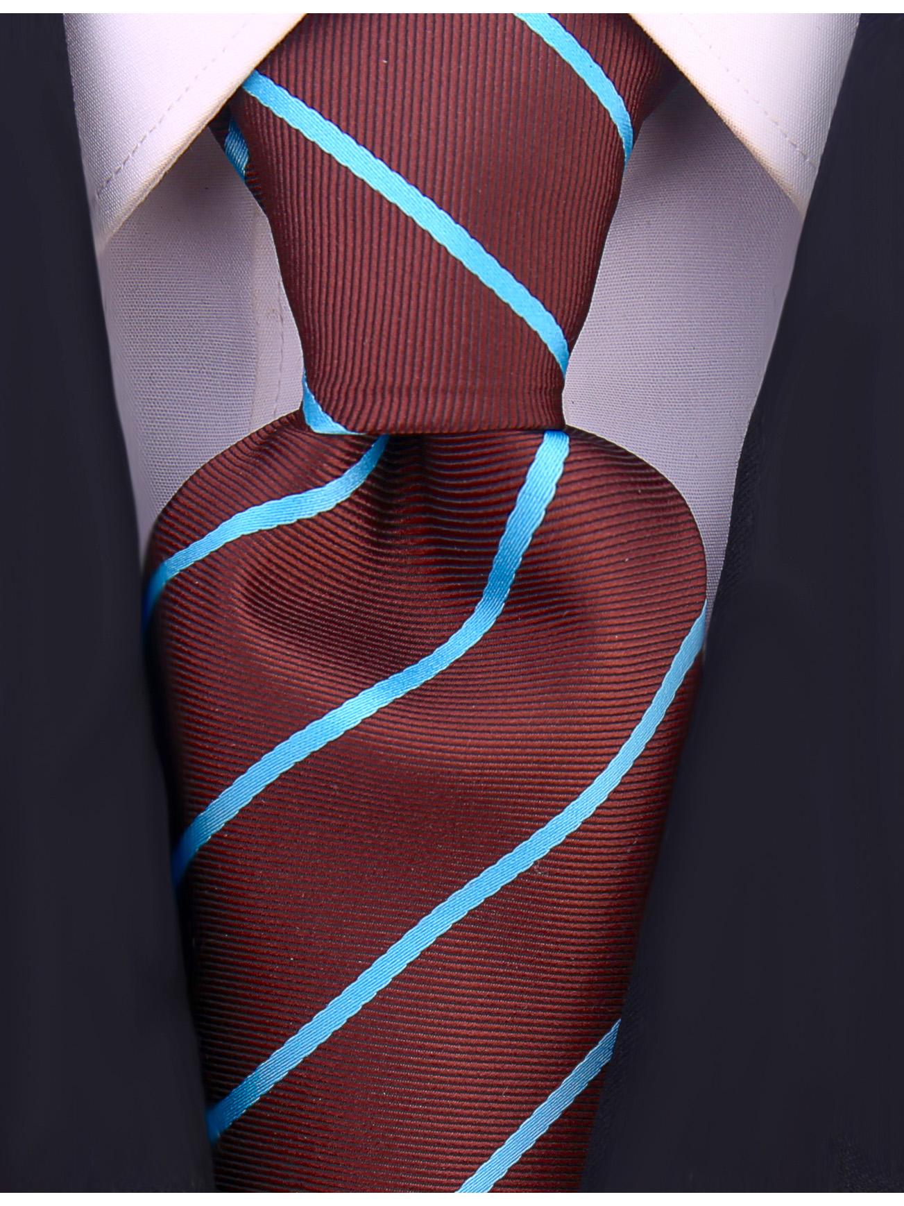 Scott-Allan-Mens-Necktie-Pencil-Striped-Mens-Tie thumbnail 15