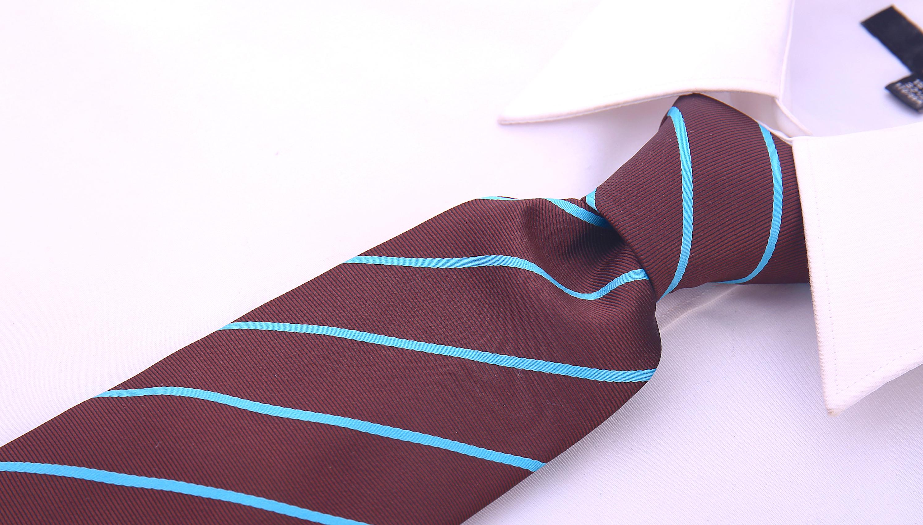 Scott-Allan-Mens-Necktie-Pencil-Striped-Mens-Tie thumbnail 18