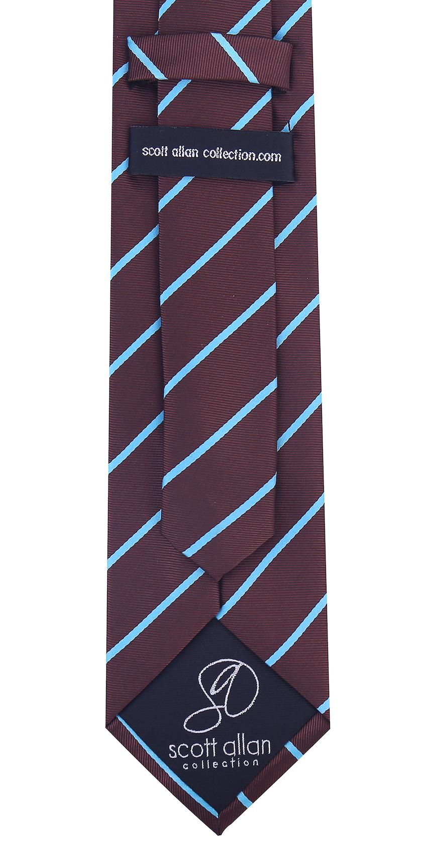 Scott-Allan-Mens-Necktie-Pencil-Striped-Mens-Tie thumbnail 19