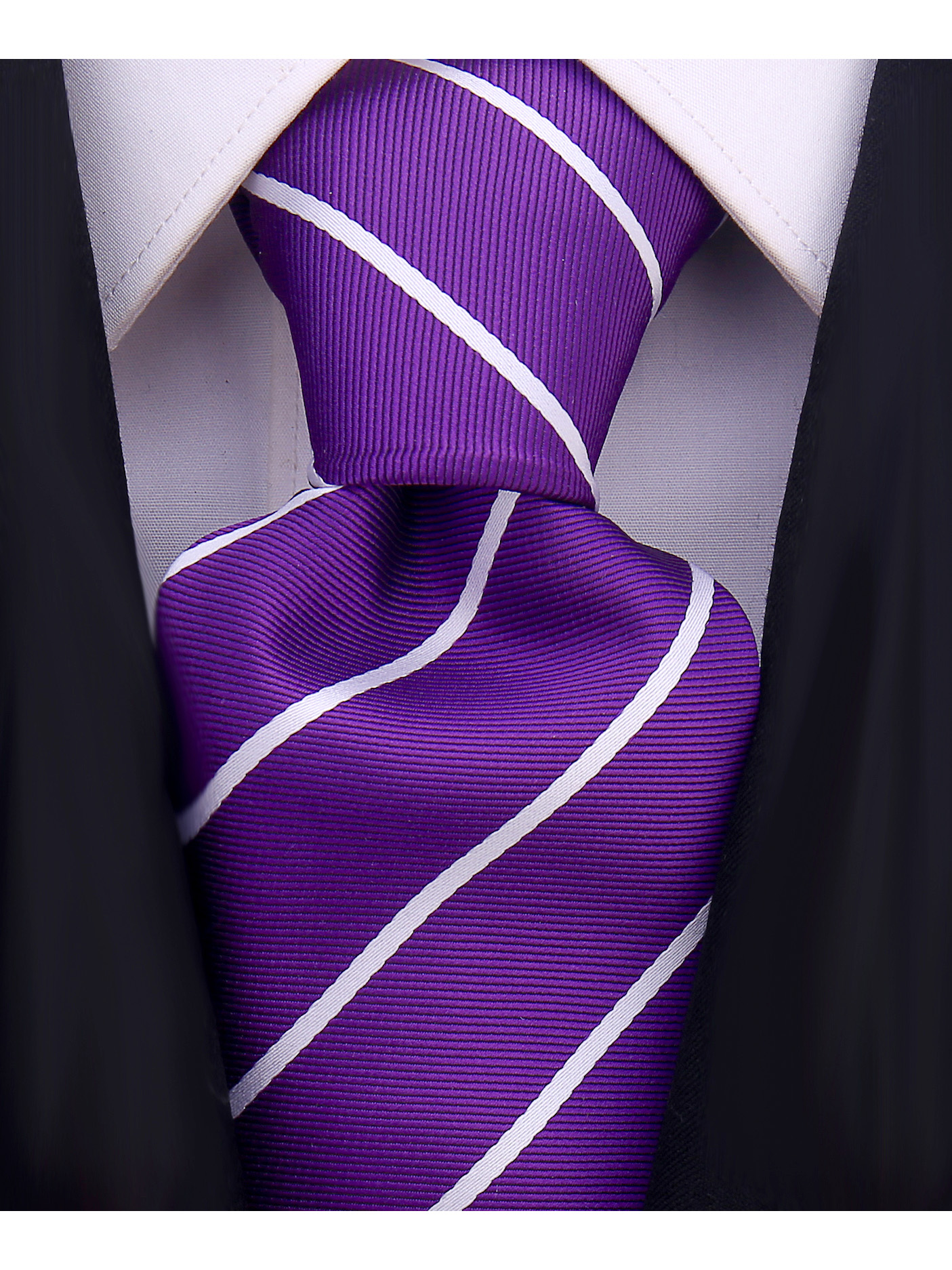Scott-Allan-Mens-Necktie-Pencil-Striped-Mens-Tie thumbnail 35
