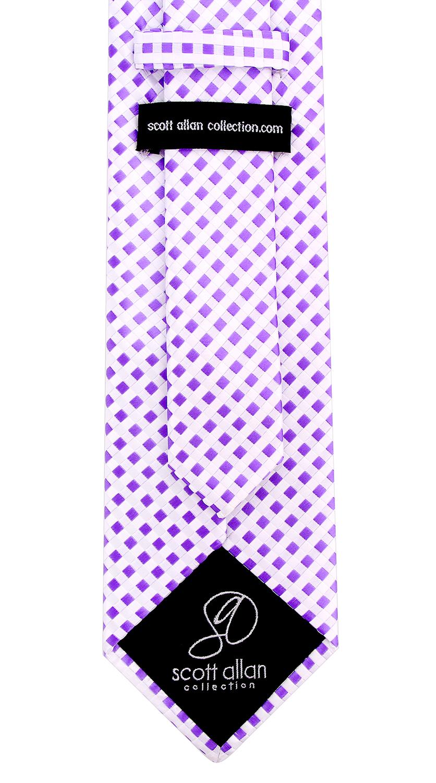 Scott-Allan-Mens-Checkerboard-Necktie-Mens-Tie thumbnail 16