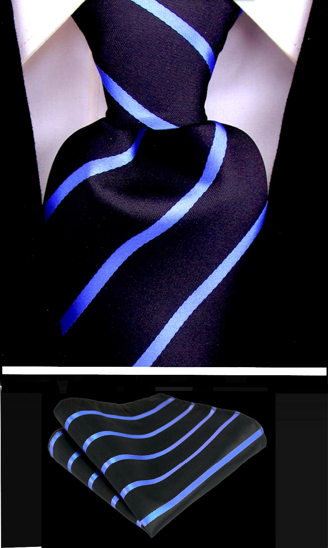 Scott-Allan-Mens-Necktie-Pencil-Striped-Mens-Tie thumbnail 11
