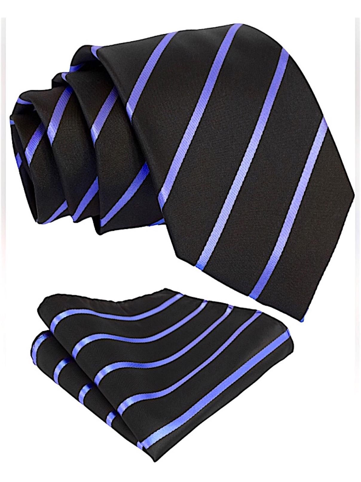 Scott-Allan-Mens-Necktie-Pencil-Striped-Mens-Tie thumbnail 10