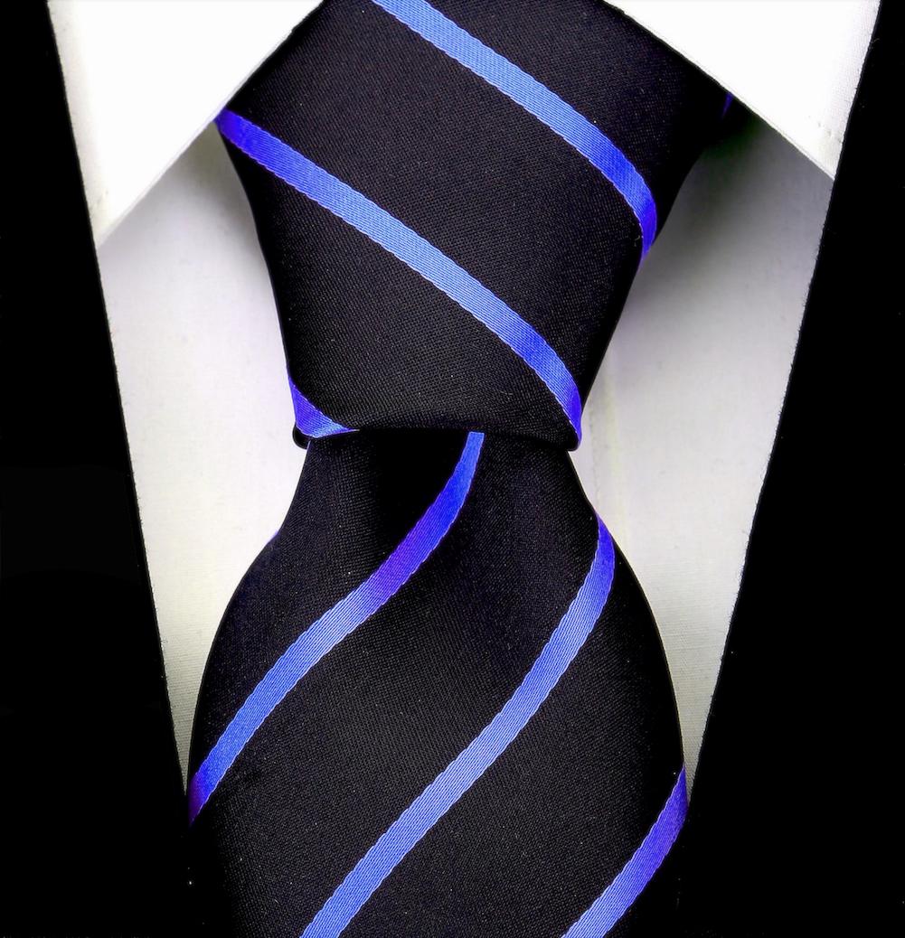 Scott-Allan-Mens-Necktie-Pencil-Striped-Mens-Tie thumbnail 12