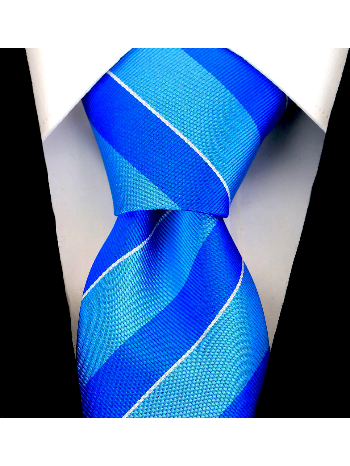 Scott-Allan-Mens-College-Striped-Necktie thumbnail 6