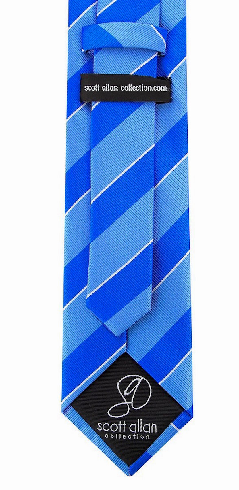 Scott-Allan-Mens-College-Striped-Necktie thumbnail 9