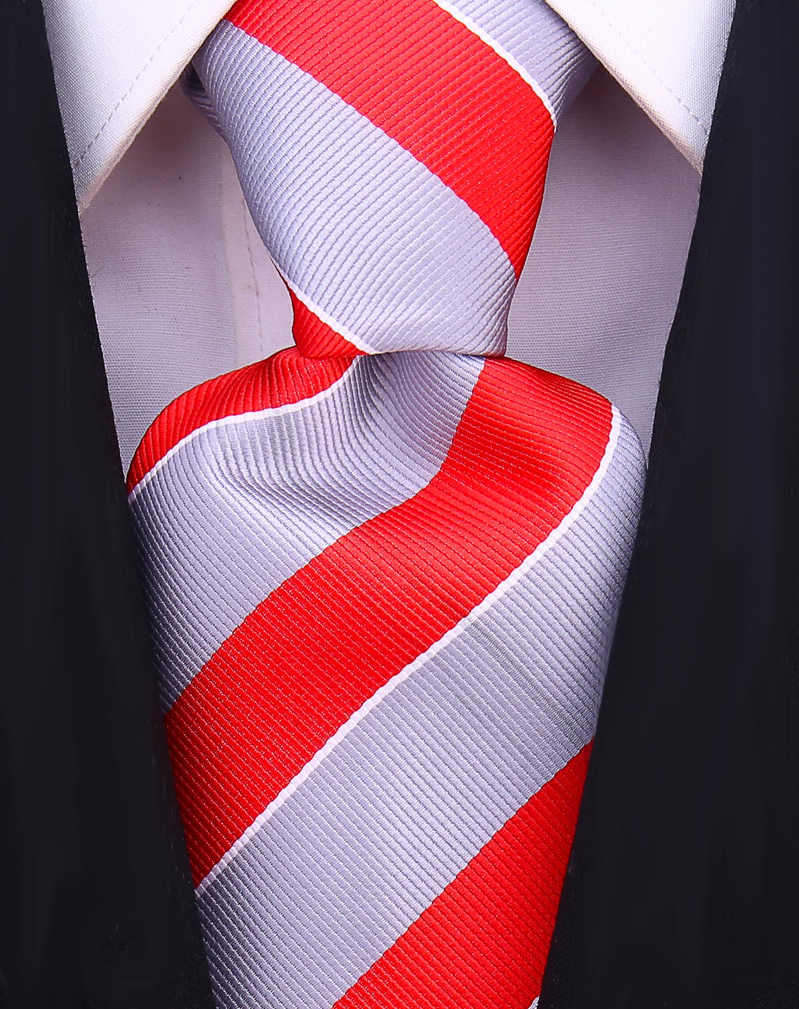 Scott-Allan-Mens-College-Striped-Necktie thumbnail 20