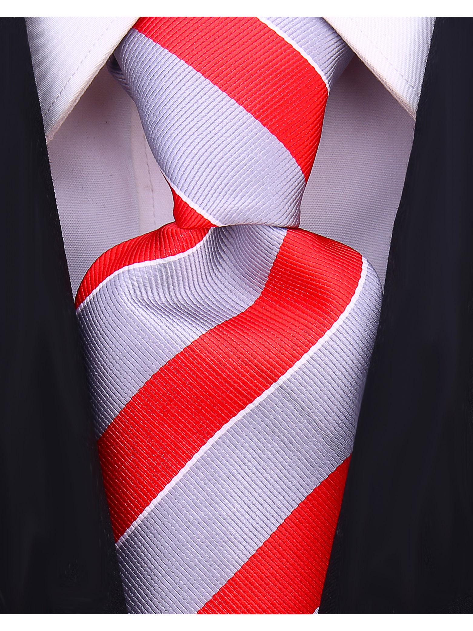 Scott-Allan-Mens-College-Striped-Necktie thumbnail 19