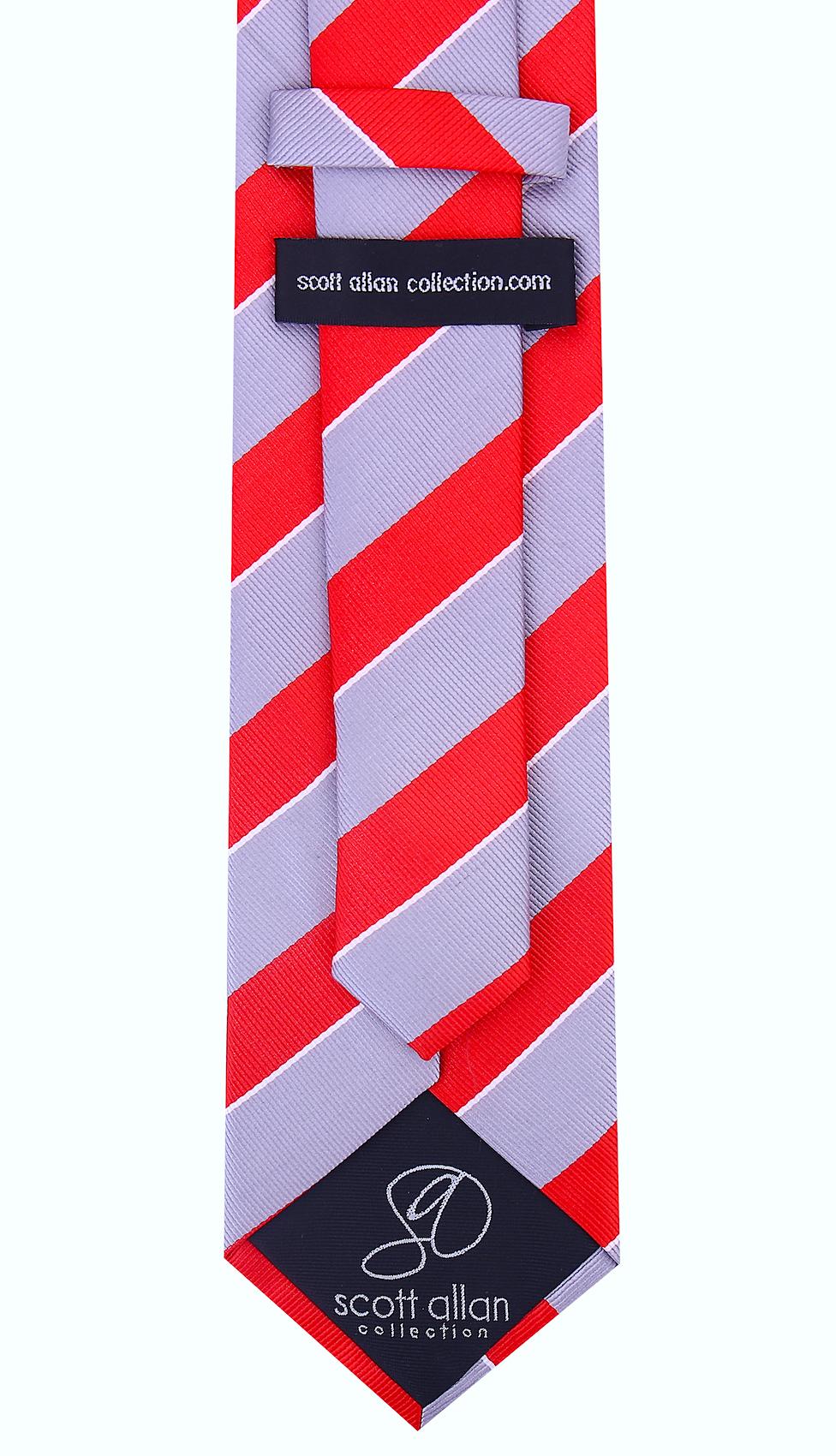 Scott-Allan-Mens-College-Striped-Necktie thumbnail 22