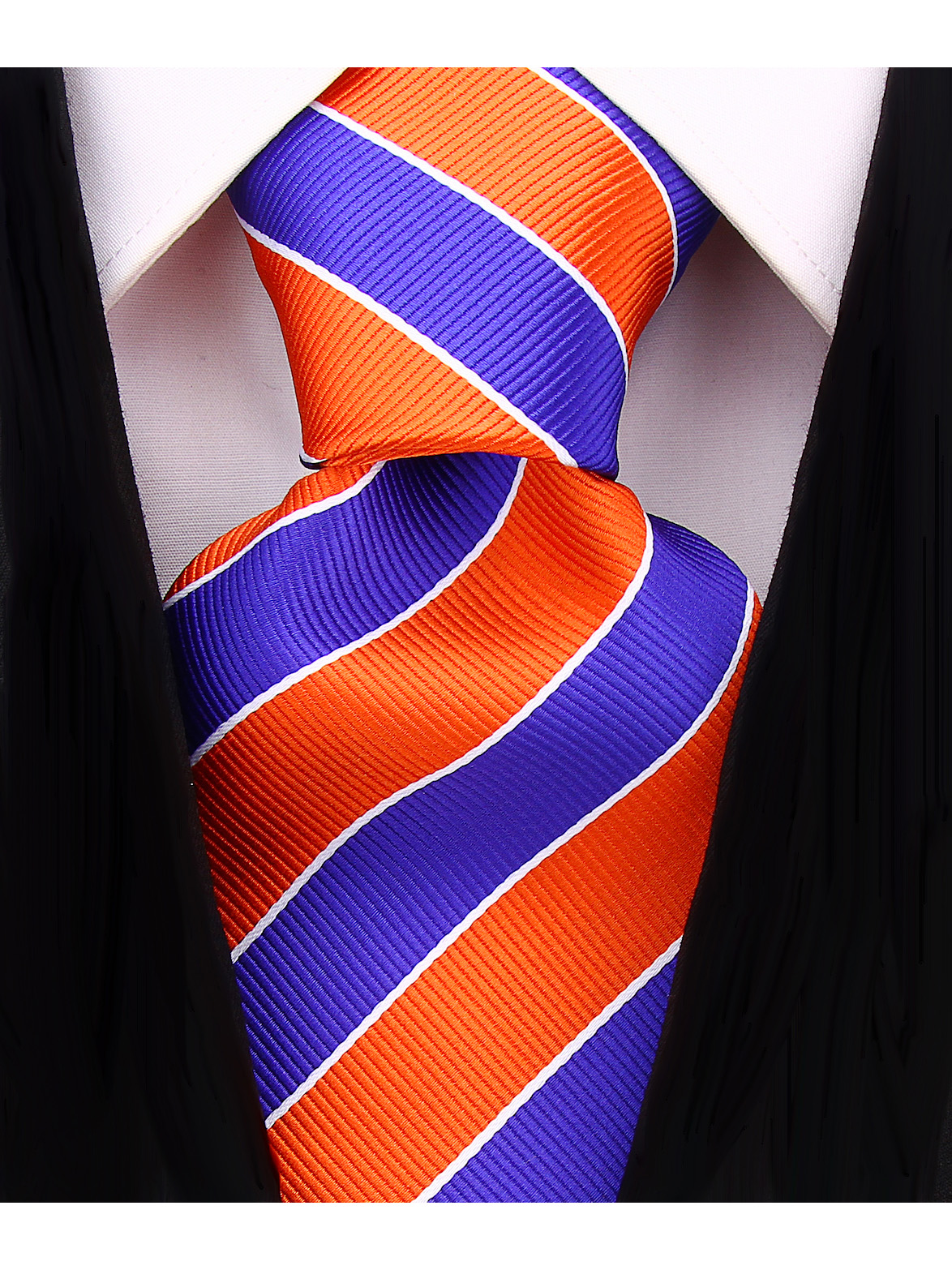 Scott-Allan-Mens-College-Striped-Necktie thumbnail 30
