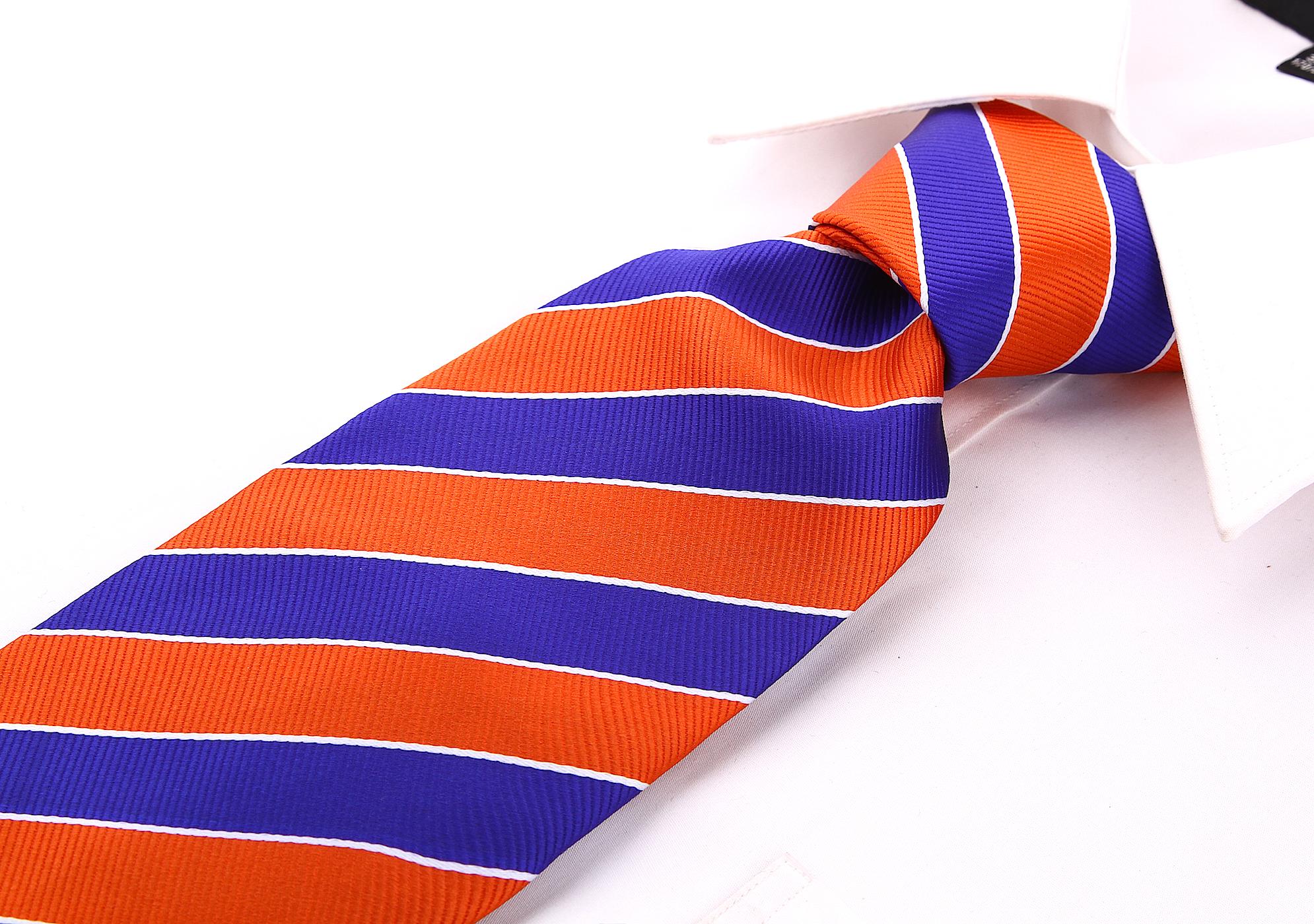 Scott-Allan-Mens-College-Striped-Necktie thumbnail 33