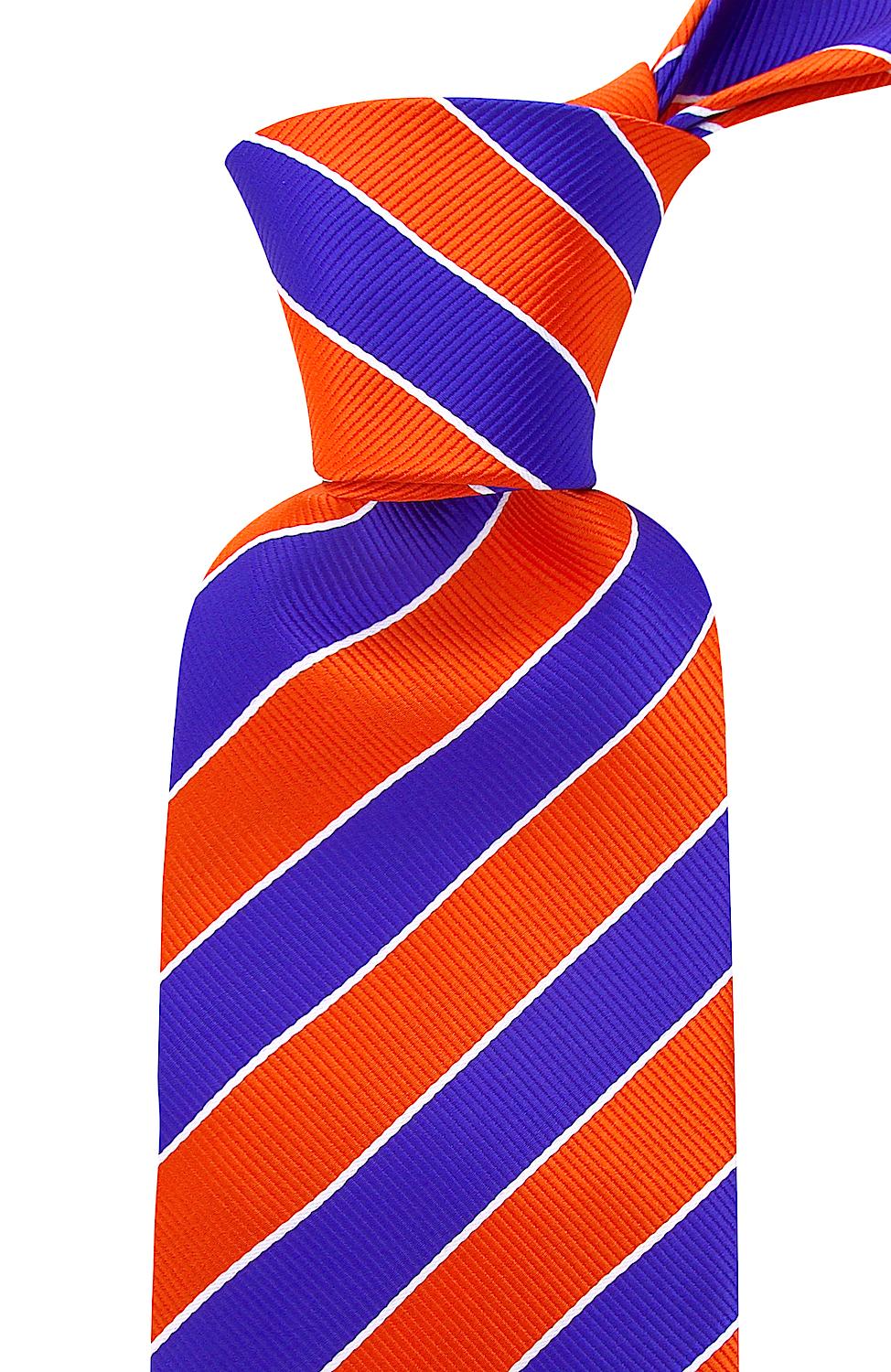 Scott-Allan-Mens-College-Striped-Necktie thumbnail 32