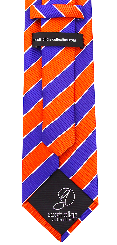 Scott-Allan-Mens-College-Striped-Necktie thumbnail 34