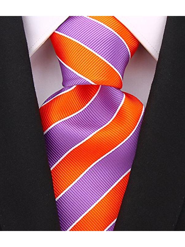 Scott-Allan-Mens-College-Striped-Necktie thumbnail 24