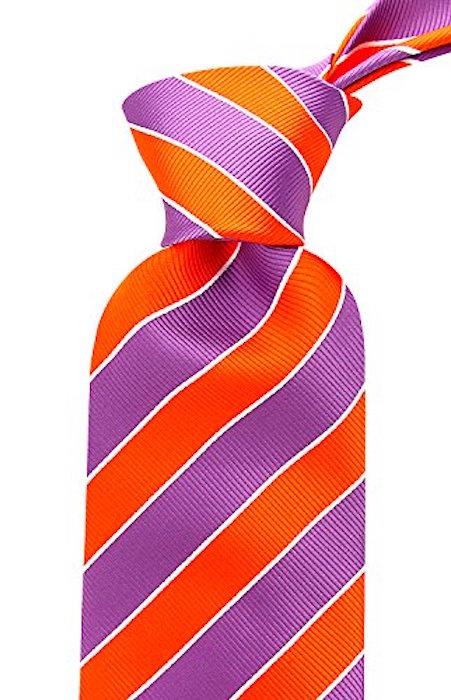 Scott-Allan-Mens-College-Striped-Necktie thumbnail 26