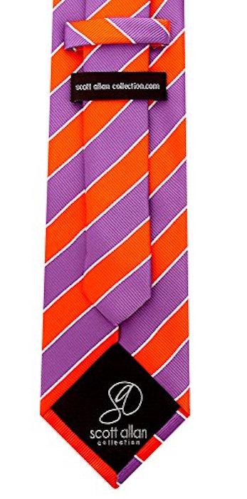 Scott-Allan-Mens-College-Striped-Necktie thumbnail 28