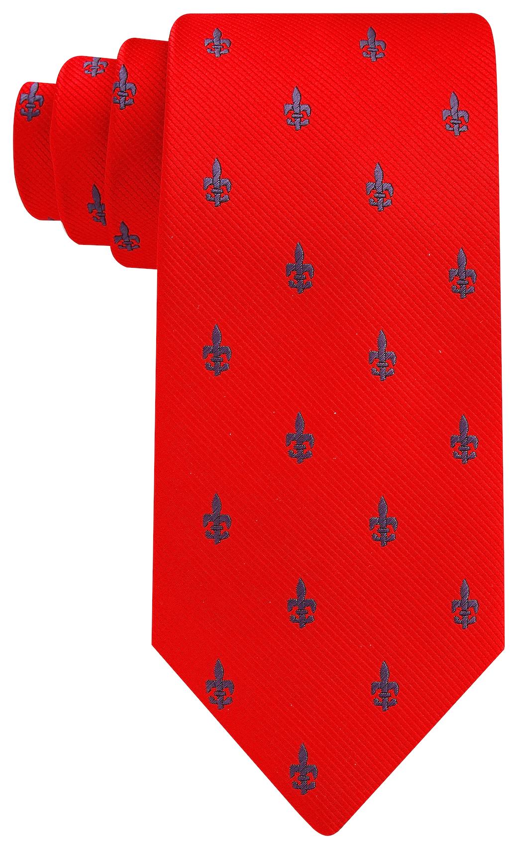 Scott-Allan-Mens-Fleur-De-Lis-Necktie thumbnail 30