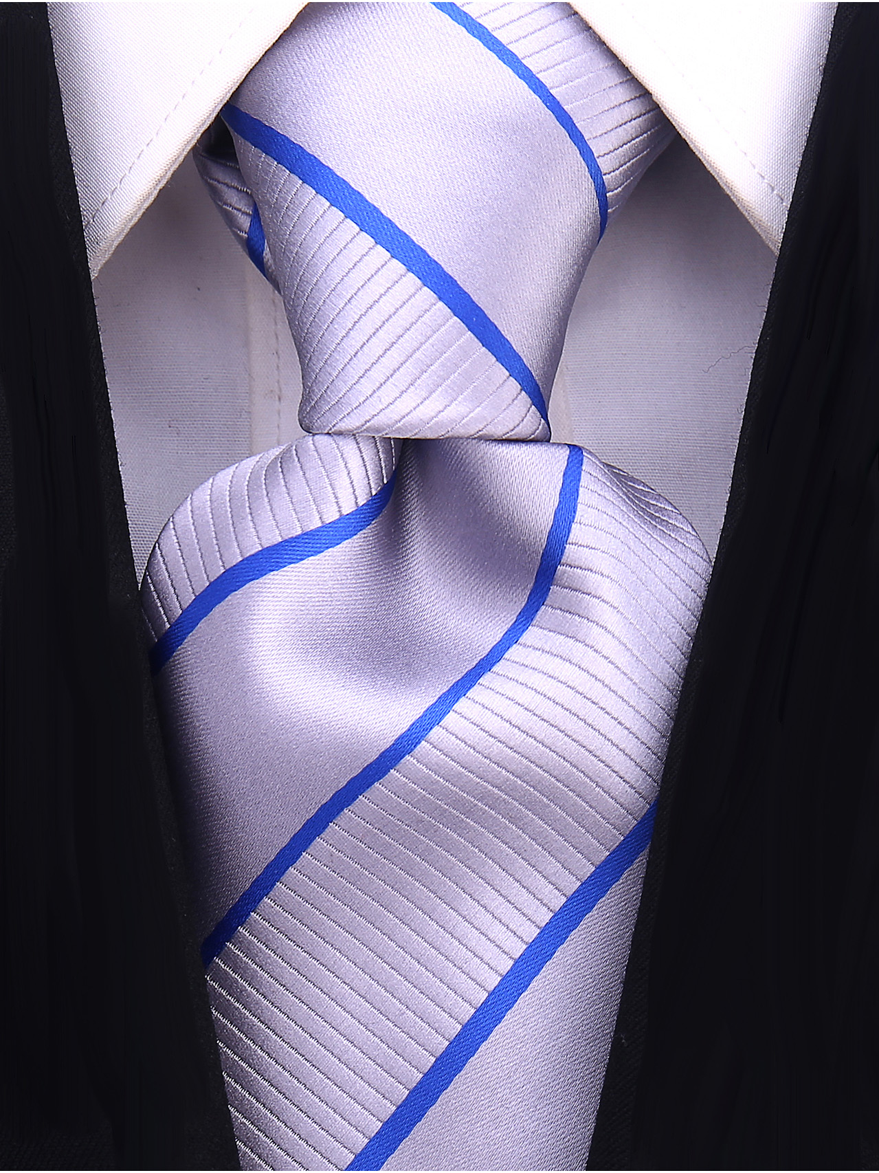 Scott-Allan-Mens-Striped-Necktie thumbnail 5