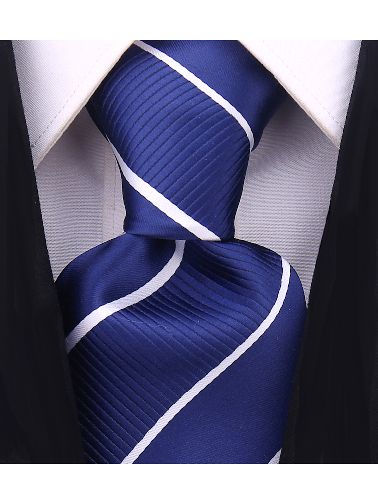 Scott-Allan-Mens-Striped-Necktie thumbnail 11