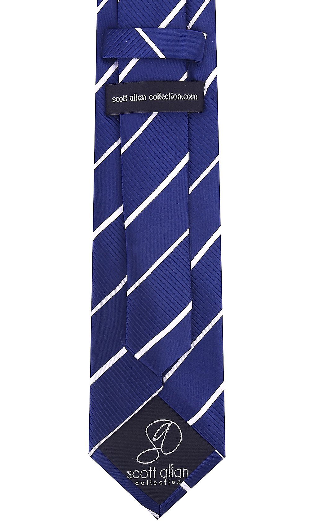 Scott-Allan-Mens-Striped-Necktie thumbnail 15