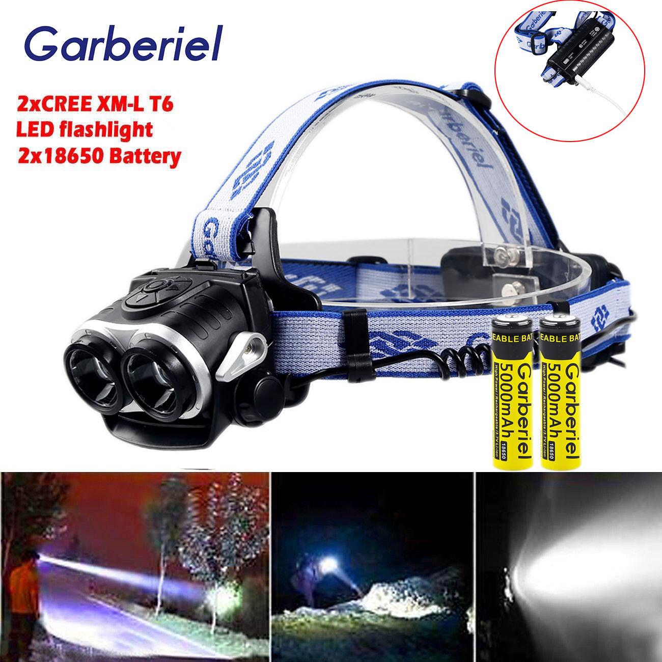 50000LM Tactical 5 x XM-L T6 LED Rechargeable 18650 USB ...