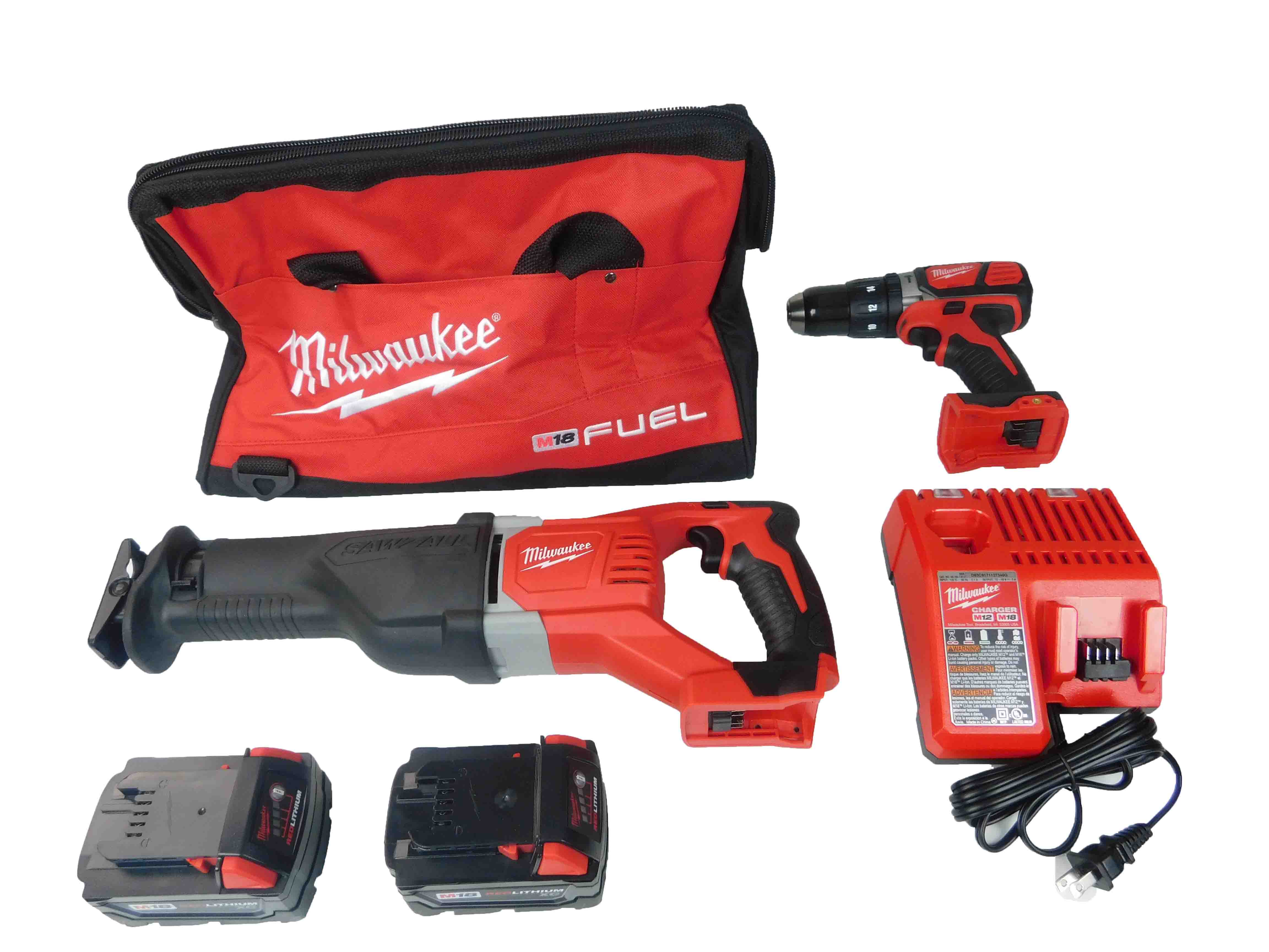 Milwaukee M18 2694-22 Li-Ion 2-Tool Cordless Combo Kit