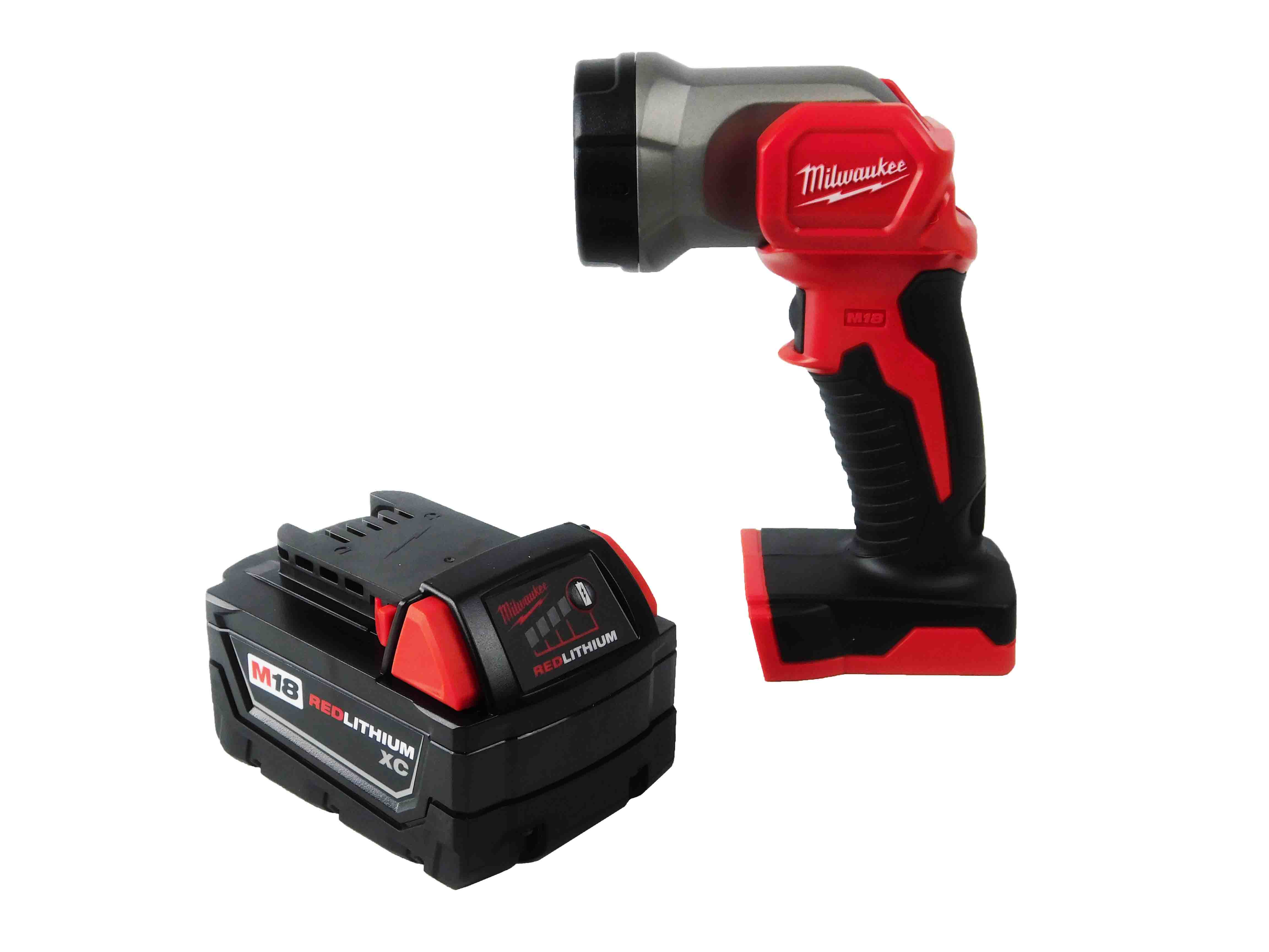 Milwaukee M18 2735-20 LED Work Light with 48-11-1828 3 Ah XC Lithium-Ion  Battery