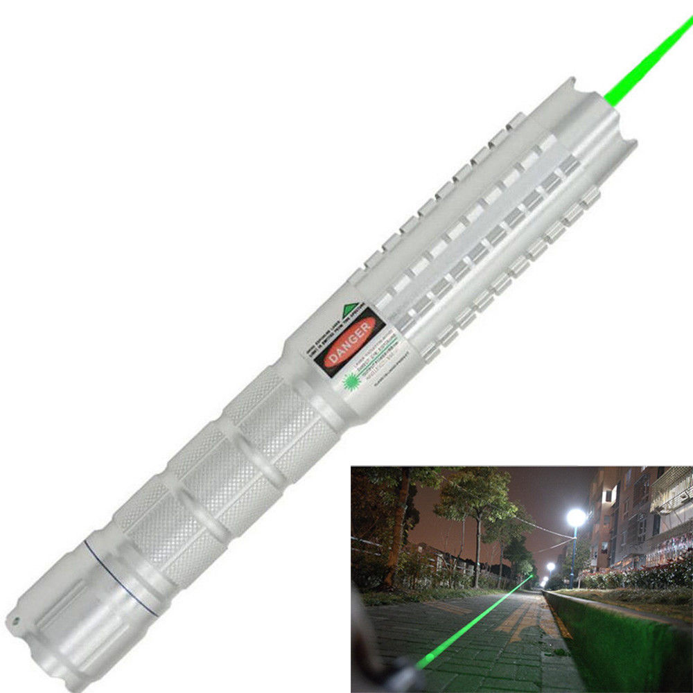 Profession Green Laser Pointer Military Adjustable Focus 532nm Strong Beam Lazer