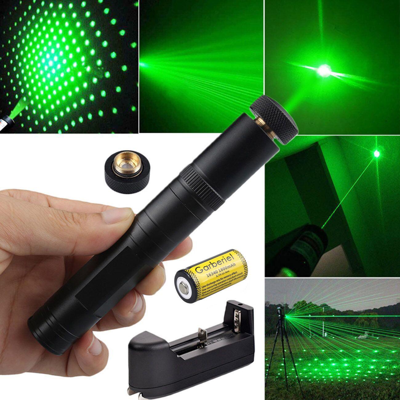10Miles Green Visible Beam Light Hunting Teacher Pointer pen 16340&Charger