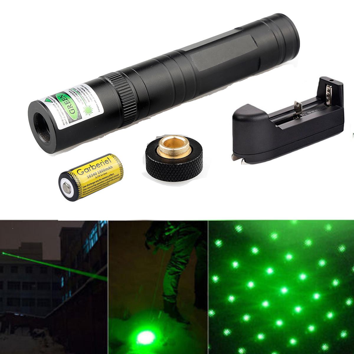 10Miles Green Visible Beam Light High Quality Teacher Pointer pen 16340&Charger
