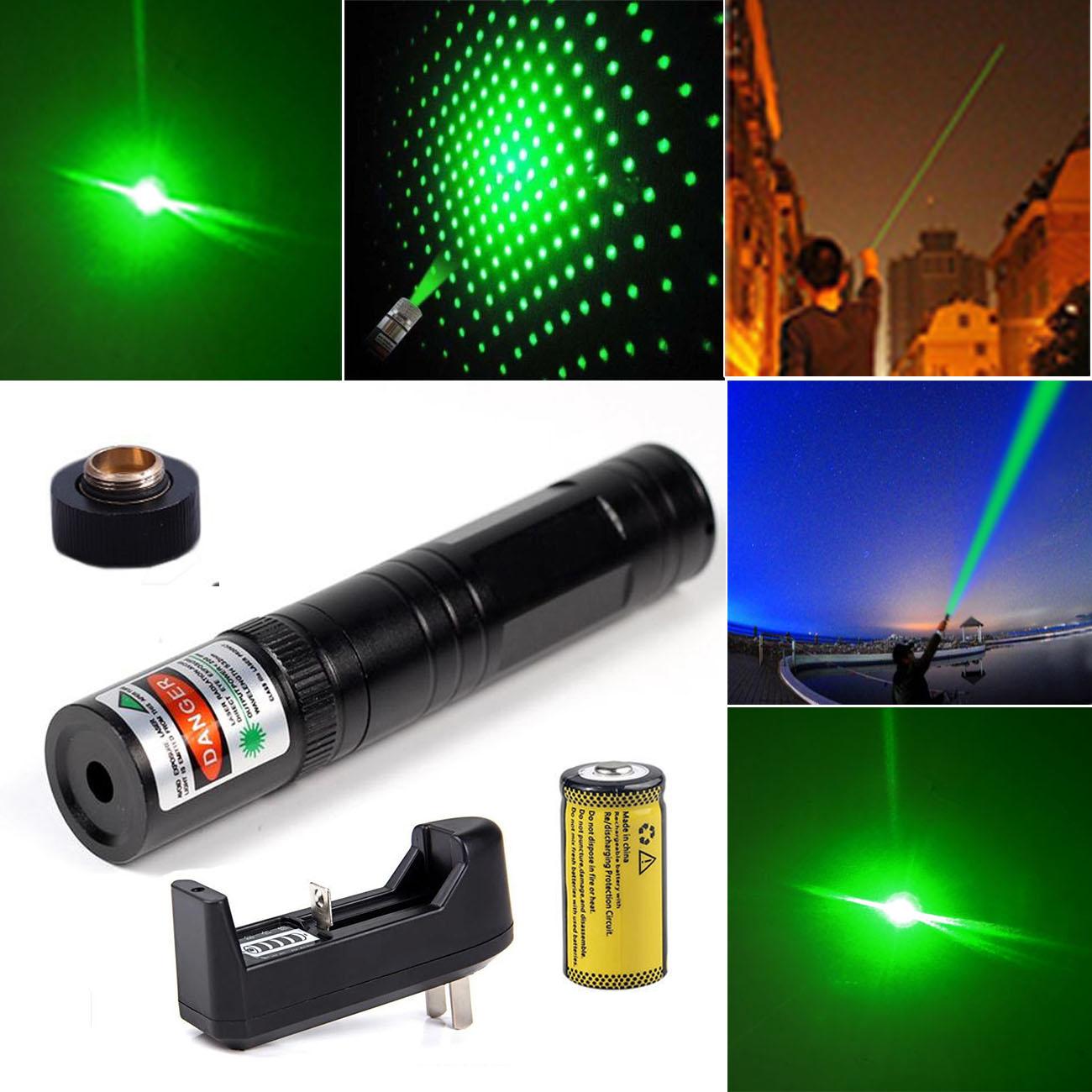 1 x 532nm Green Visible Beam Light Tactical Teacher Pointer pen &Battery