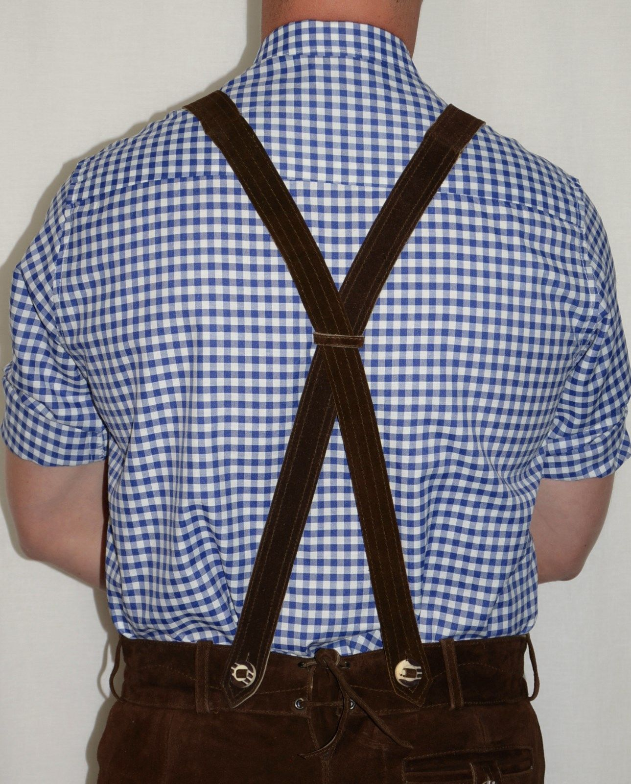 SUSPENDERS-LEATHER-German-Lederhosen-Shorts-Pants-Oktoberfest-Trachten-BRAIDED thumbnail 6