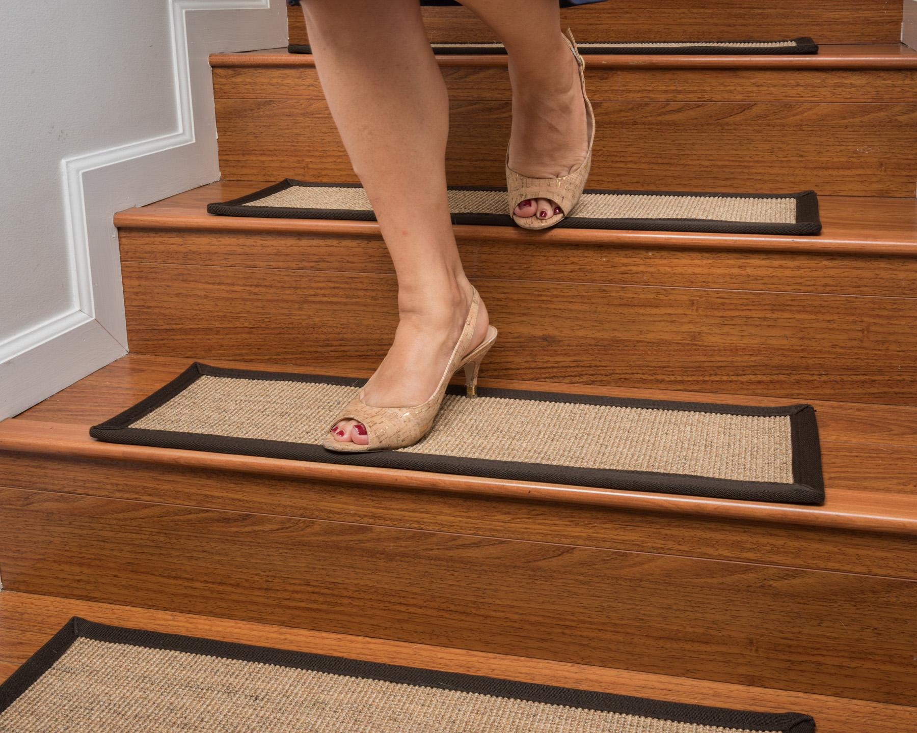 Naturalarearugs Montreal Sisal Multi Carpet Stair Treads ...