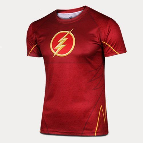 Mens-Superhero-Marvel-Gym-Costume-Short-Sleeve-Bicycle-Jersey-Cycling-T-Shirts